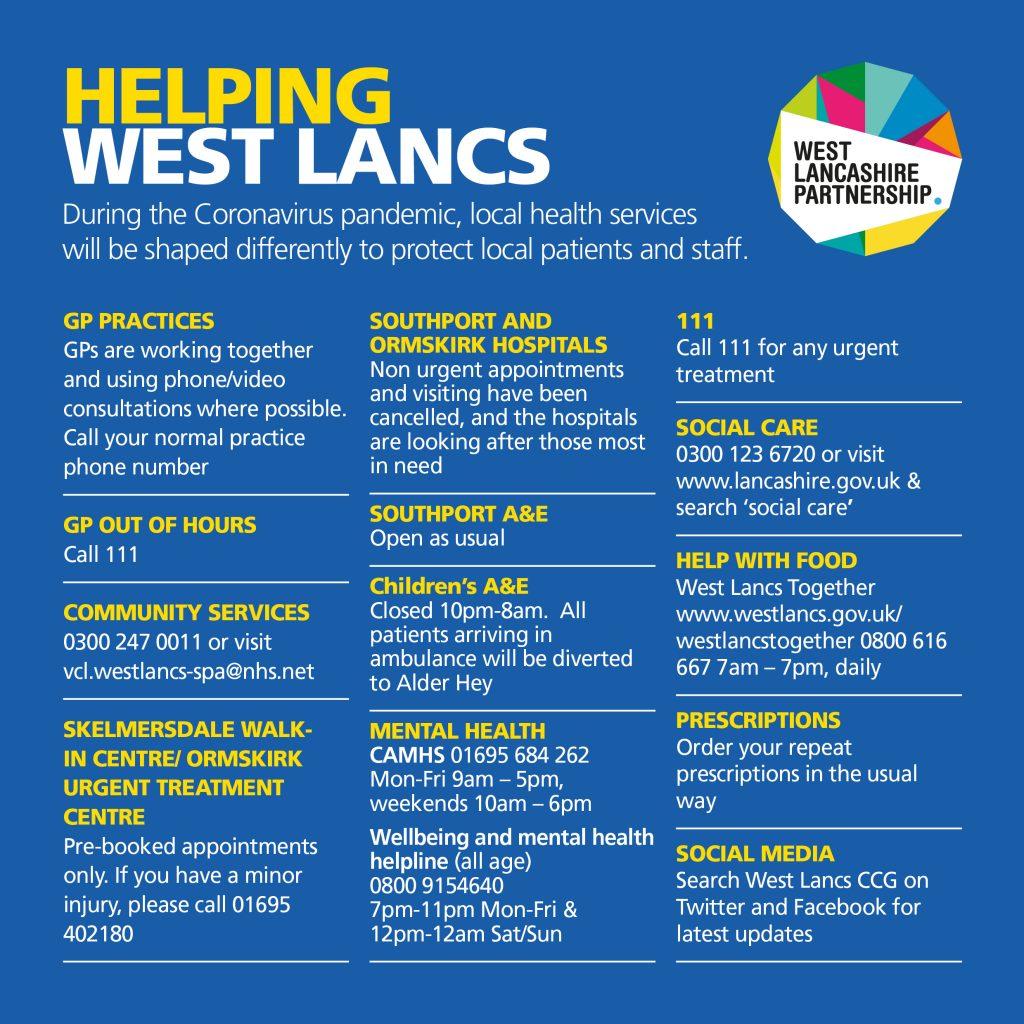 HELPING WEST LANCASHIRE